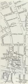 1838 map showing location of Chiswell Street