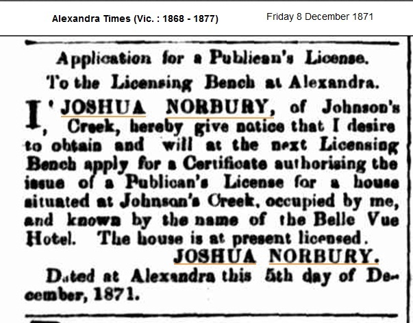 Newspaper advertisement relating to application for a Publican's Licence