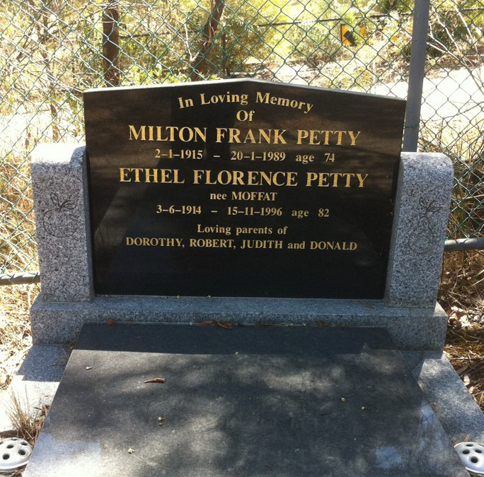 Grave of Milton and Ethel Petty