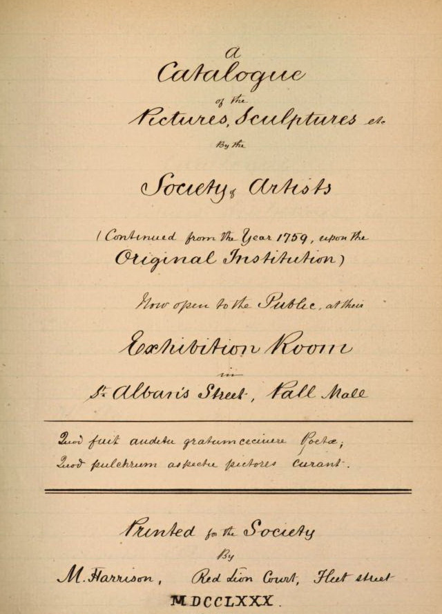 Catalogue-Title Page