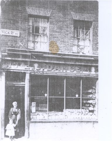 Bakers shop at 315 Wick Road, Hackney