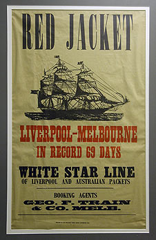 Poster advertising the Red Jacket