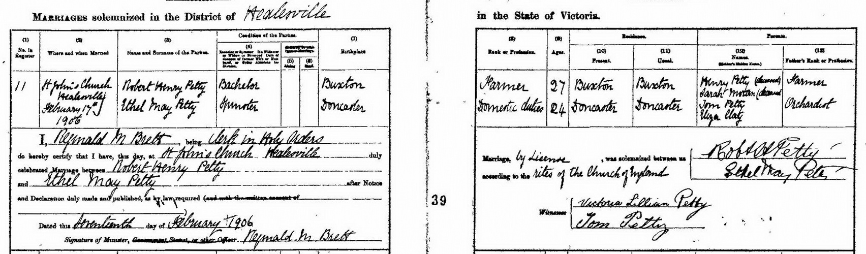Ethel May Petty and Robert Henry Petty-marriage certificate.jpg