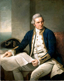 Captain James Cook by Nathaniel Dance, 1775, original in National Maratime Museum, Greenwich.