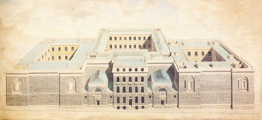Newgate Prison: as finally built. Built 1768- c 1813