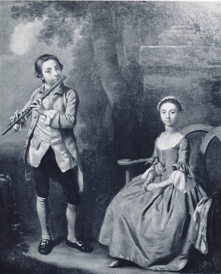 George and Hester Dance aged 15 and 13 respectively, thought to be by Francis Hayman