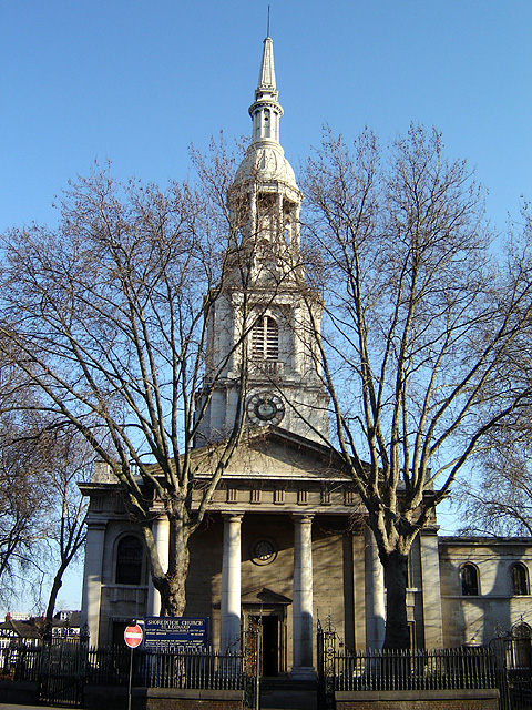 Church of St Leonard, Shoreditch, Hackney, London, built 1736-1740