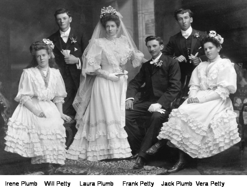 Frank Petty and Laura Plumb wedding party