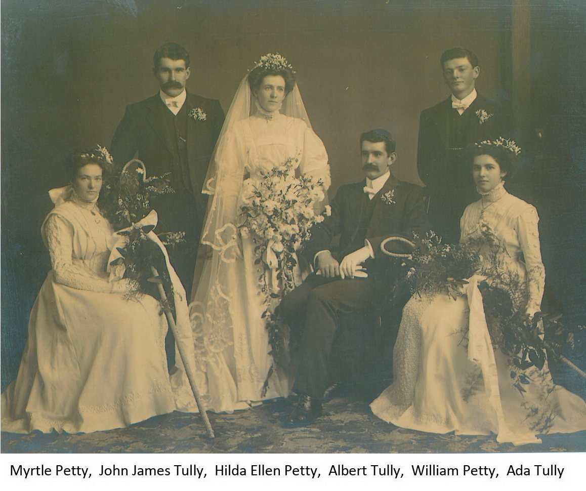 Albert Tully and Hilda Petty wedding party
