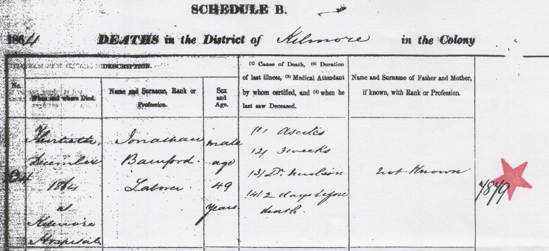 Johnathan Bamford death certificate 1